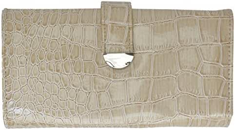 Mundi Croc Kellie Tab Clutch Wallet