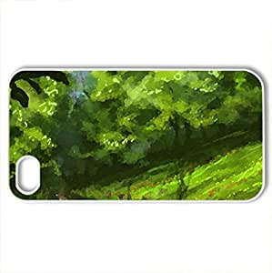 Forest - Case Cover for iPhone 4 and 4s (Forests Series, Watercolor style, White)