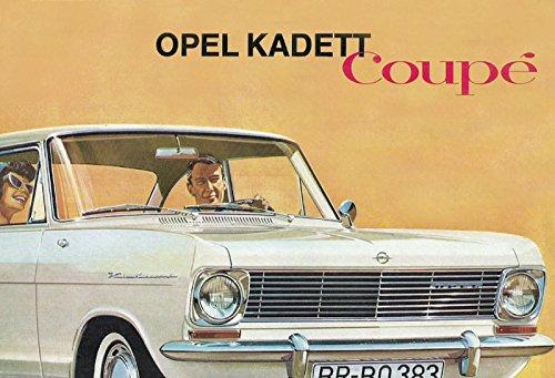 Schatzmix Opel Kadett Coupé Automatique de Voiture Plaque en métal Deko Schild Blech Garten