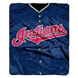 Cleveland Indians 50''x60'' Royal Plush Raschel Throw Blanket - Jersey Design