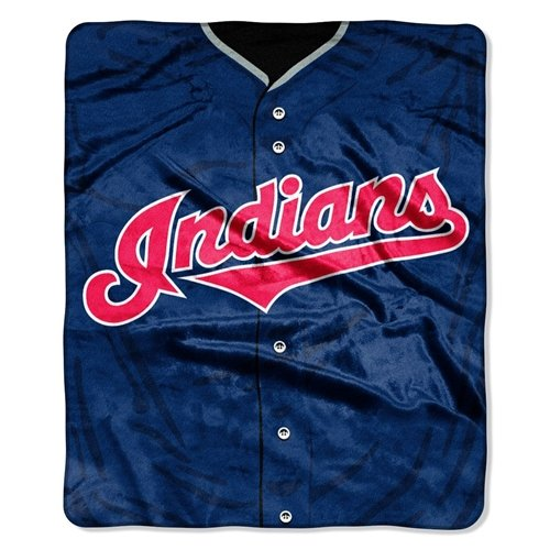 MLB Cleveland Indians Jersey Plush Raschel Throw, 50