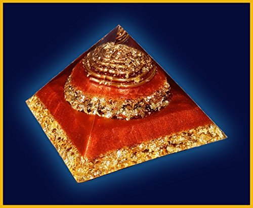 4.5 inch Copper and Gold Flake Orgone Pyramid