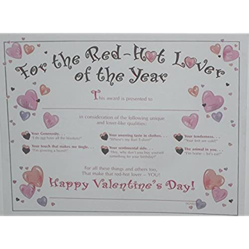 Valentines Day Large Award Greeting Card Sales