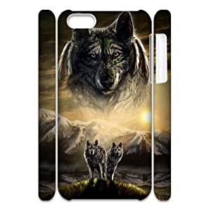 Wolves Customized 3D Case for Iphone 5C, 3D New Printed Wolves Case