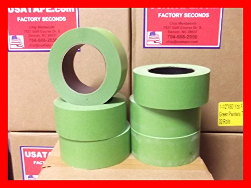 Lot Of 24 Rolls 2''X 60 Yards Green Painters Masking Tape by USA Tape