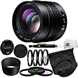 Panasonic Lumix G Leica Dg Nocticron 425mm F12 Asph Power Ois Lens 9 Piece Essentials Accessory Kit