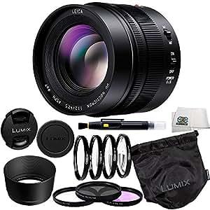 Panasonic LUMIX G Leica DG Nocticron 42.5mm f/1.2 ASPH Power OIS Lens + 9 Piece Essentials Accessory Kit