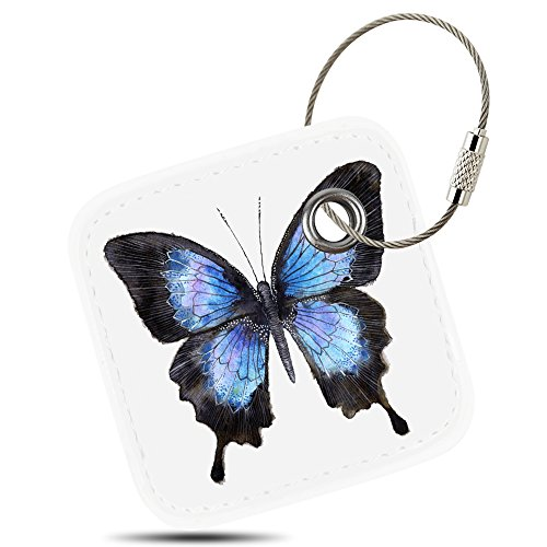 Case For Tile Mate Tile Sport Tile Style   Key Finder  Phone Finder  Anything Finder  Tile Mate Accessories  Lether Case Cover For Tile Mate With Anti Lost Design  Butterfly  By Logity