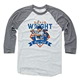 500 LEVEL David Wright Baseball Tee Shirt - New York Baseball Raglan Shirt - David Wright Field