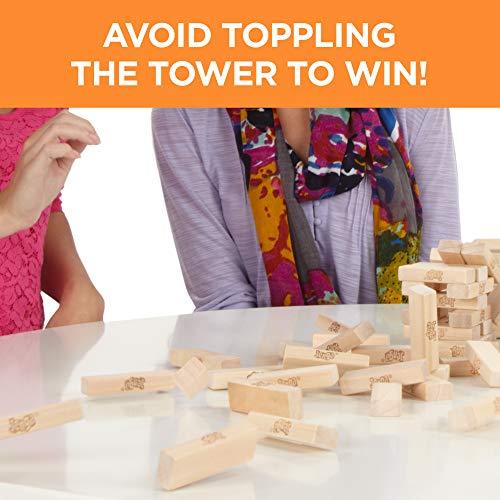 Jenga Game Wooden Blocks Stacking Tumbling Tower Kids Game Ages 6