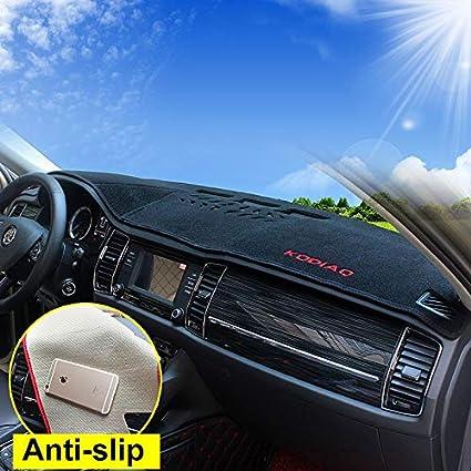 red side Auto Armaturenbrett Mat F/ür Kodiaq Armaturenverkleidung Dashboard Zubeh/ör interior 2017 2018 ?LHD?
