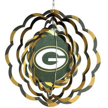 Green Bay Packers Geo Spinner Home Garden Decor Wind Wheels Spinners