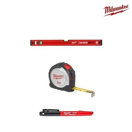 Pack nivel 60 cm Milwaukee – métrica Compact 3 m – Marcador inkzall 4932459380