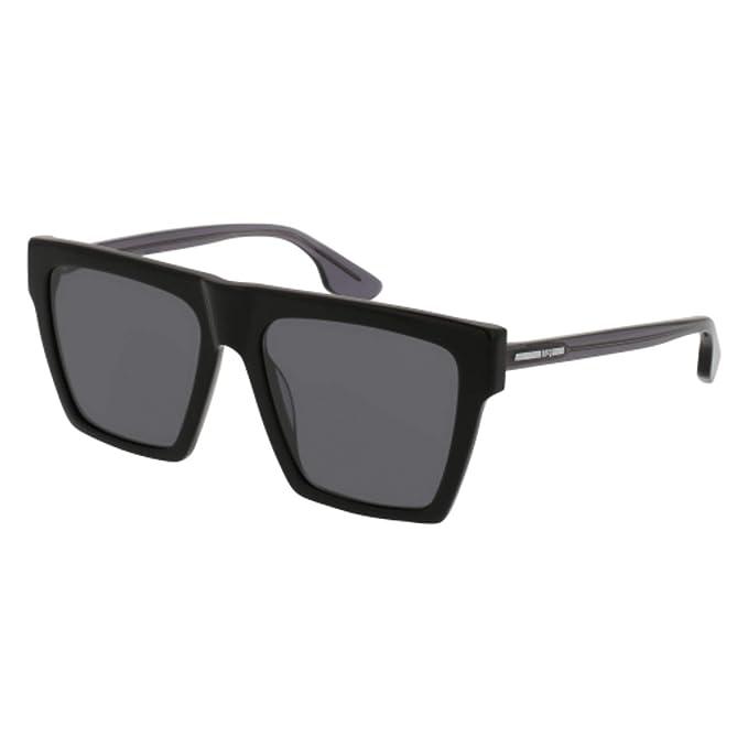 4f06b099ad9 McQ MQ0073S 001 Black MQ0073S Square Sunglasses Lens Category 3 Size 54mm   McQ  Amazon.ca  Clothing   Accessories