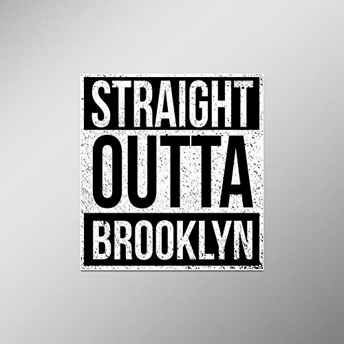 (Straight Outta Brooklyn Vinyl Decal Sticker | Cars Trucks Vans SUVs Laptops Walls Windows Cups | Full Color | 4.5 X 5 Inches | KCD2097)
