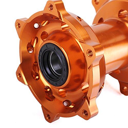 ANUESN Front & Rear Wheel Rim Hubs KTM SX SXF XC 125 250 300 350 450 520 525 530 by ANUESN (Image #7)