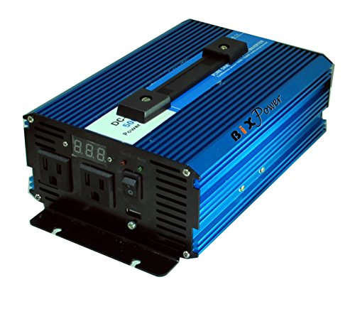 BiXPower 36V (30V ~ 45V) DC to 110V AC 500W True Pure Sine Wave Power Inverter by BiXPower
