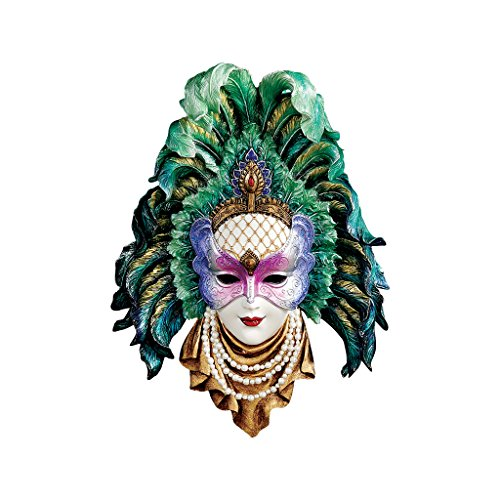Toscano Mask (Design Toscano Maidens of Mardi Peacock Princess Gras Wall Mask Sculpture)