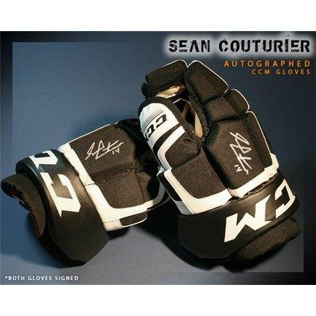 Sean Couturier Philadelphia Flyers Autographed CCM Model Gloves - Autographed NHL Gloves