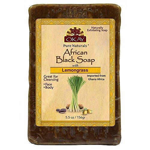 OKAY African Black Soap Lemongrass, Lemongrass, 5.5 Ounce