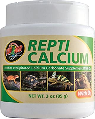 Zoo Med Calcium With Vitamin D3 Reptile Food, 3-Ounce by Zoo Med Laboratories