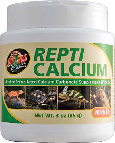 Zoo Med Calcium With Vitamin D3 Reptile Food, -