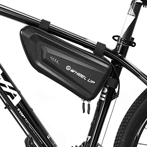 INTSUN Bicycle Triangle Frame Bag Bicycle Pouch Top Tube Pack Lightweight Bike Accessories Storage Bag, Large Capacity, Tough EVA 3D Shell Water Resistant