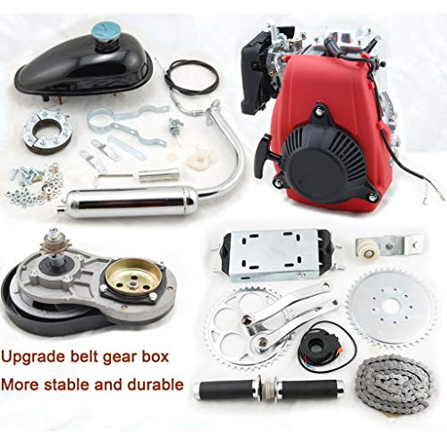 49cc 4 Stroke Engine Motor Kit, Bike Engine Kit 4 Stroke, Gas Petrol Motorized Bike Engine Scooter for 26