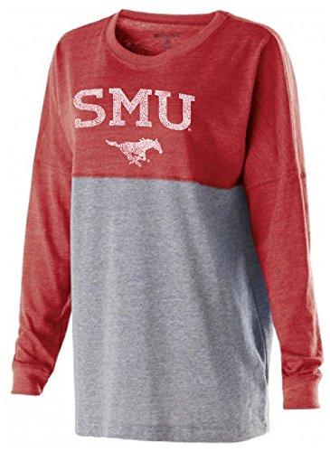 Mustangs Smu (Ouray Sportswear NCAA SMU Mustangs Women's Low Key Pullover Top, XX-Large, Vintage Scarlet/Vintage Grey)