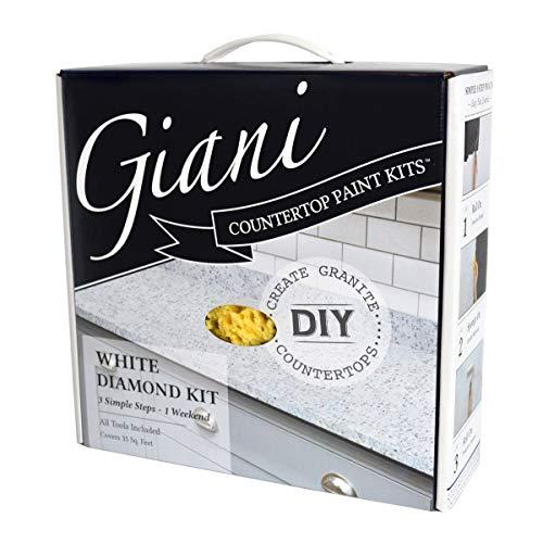 Giani White Diamond Countertop