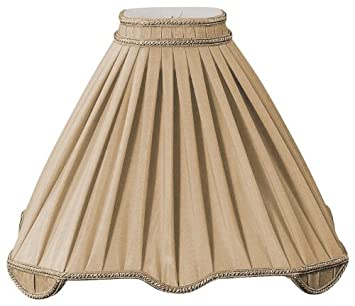 Royal Designs Pleated Square with Top Gallery Designer Lamp Shade DS-44-17AGL 5.5 x 17 x14.5 Inc Antique Gold
