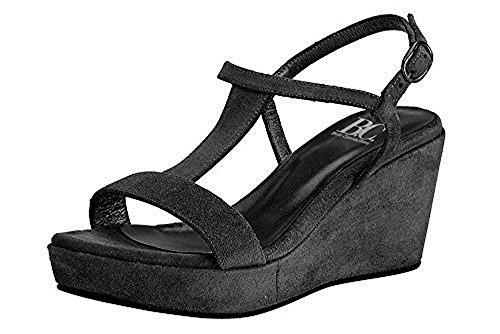 Best Connections Sandalette - Sandalias de Vestir de cuero Mujer negro - negro