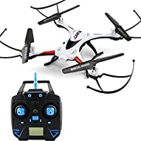 Qsmily Waterproof Drone JJRC H31 2.4G 4CH 6-Axis Gyro Resistance To Fall RC Quadcopter With Headless Mode 360° Rolling One Key Return (No Camera) - White