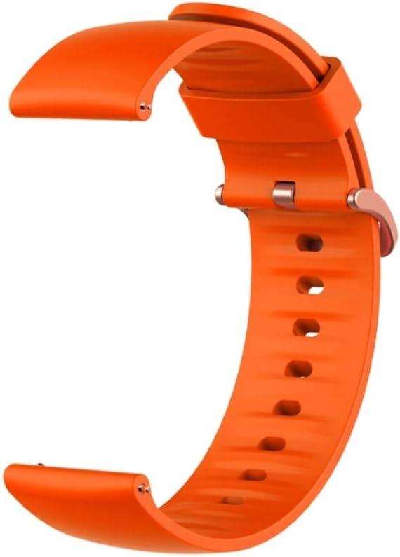 Husgrtyer YHM 22MM for Xiaomi Montre Color Smart Sport Couleur de Remplacement Bracelet en Silicone (Noir) (Color : Red) Orange