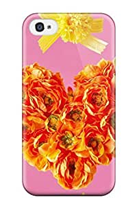 For Iphone Case, High Quality Fresh Floral Heart For Iphone 4/4s Cover Cases