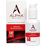 Alpha Skin Care - Intensive Renewal Serum, 14% Glycolic AHA, Real Results for Lines and Wrinkles| Fragrance-Free and Paraben-Free| 2-Ounce
