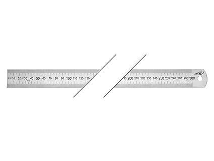 links n rechts 300 mm Rostfreier Stahllineal Starre Ausf/ührung mm//mm teilung 30x1,0 v