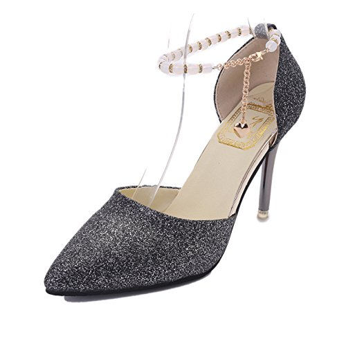 indossare donna scarpe High da Moda yalanshop di Heeled perline antiscivolo scarpe 34 grigio punta q6nv8t