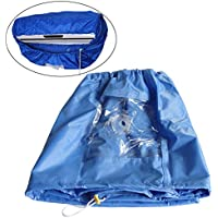 Plum Grden Blue Air Conditioner PU Cleaning Dust Washing Cover Clean Waterproof Protector