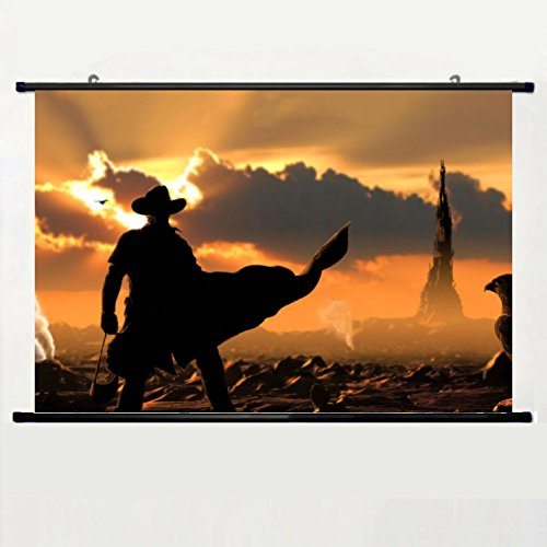 - Home Decor Popular Movies and TV Poster with The Dark Tower Wall Scroll Poster Fabric Painting 24 X 16 Inch (60cm X 40 cm)