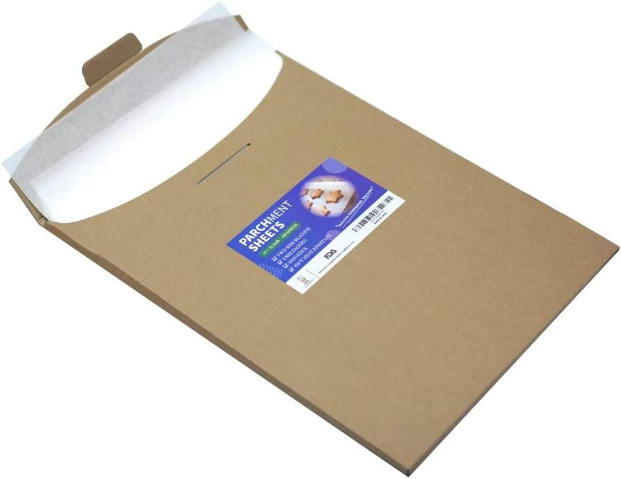 Katbite 100 Pcs Parchment Paper Sheets, 12x16 Inch Baking Paper Liner Sheets (9x13,16x24 Available)