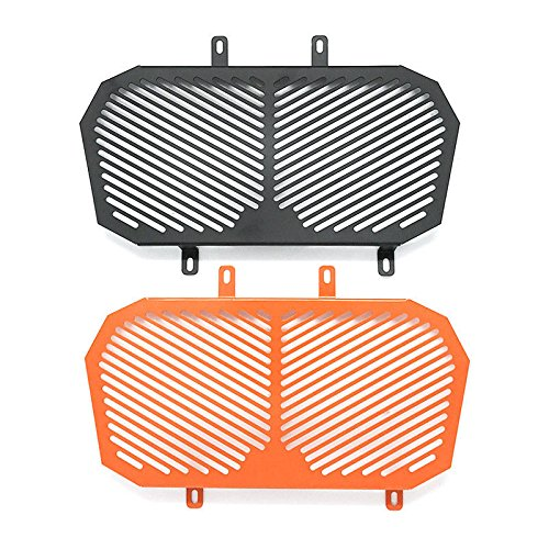 Stainless Radiator Guard Grill Cover Protector for 2012-2016 KTM Duke 125 200 2013 2014 2015 (Black) (Guards Radiator Ktm)