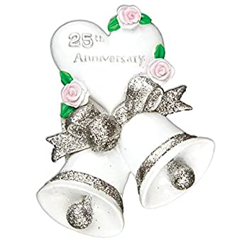 Amazoncom 25th Silver Wedding Anniversary Personalized Christmas