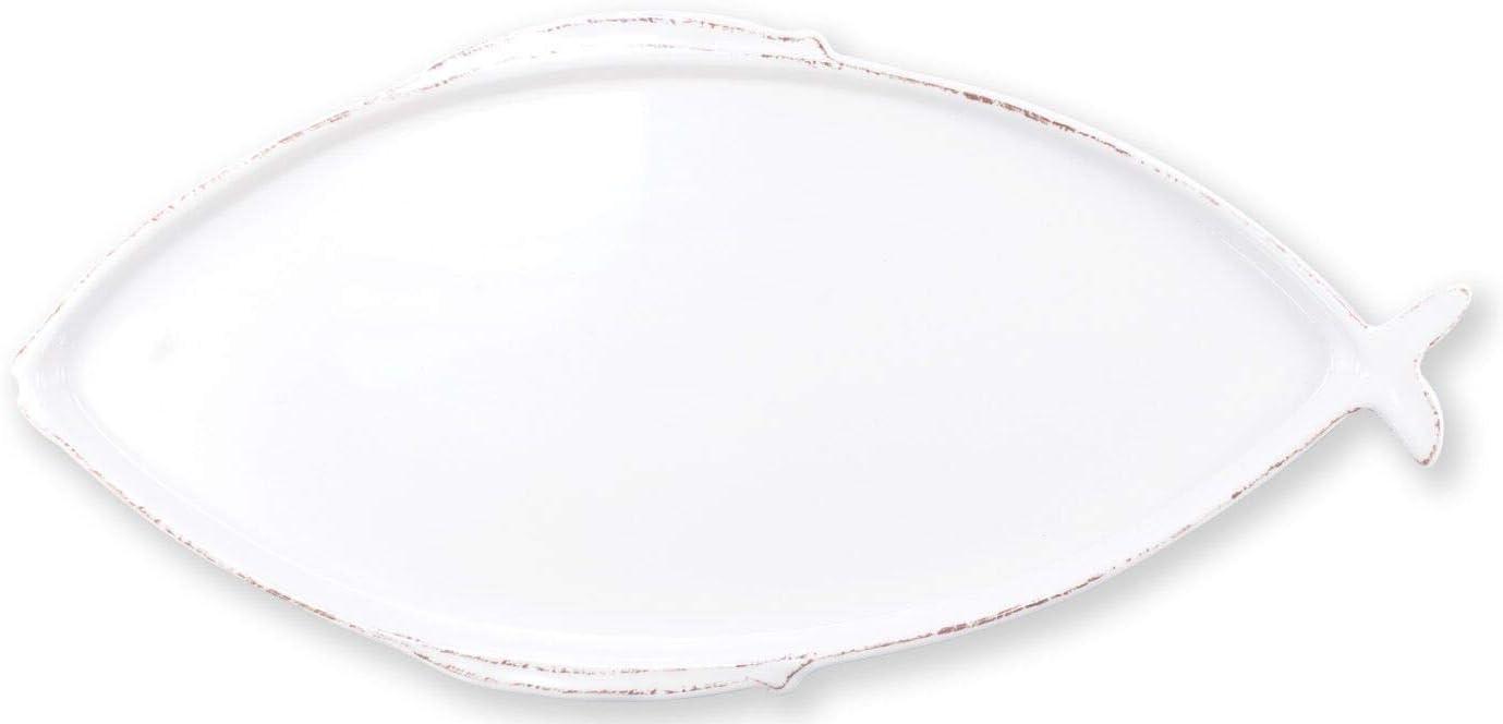 Vietri Melamine Lastra Fish White Large Oval Platter