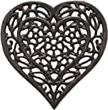 Cast Iron Trivet - Heart (Unique, Hand-crafted, Recycled; for Kitchen and Cooking)