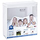 RUUF Queen Size Mattress Protector, Premium Hypoallergenic Waterproof Mattress Cover, Vinyl Free