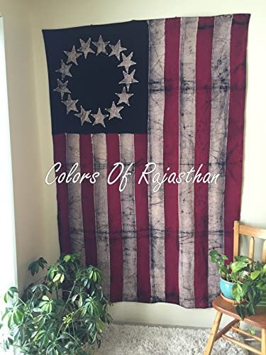 United States Colonial Patriotic Flag Tapestry By COR , Beautiful Indian Wall Art, Perfect Gift, Hippie Wall Hanging, Bohemian Bedspread