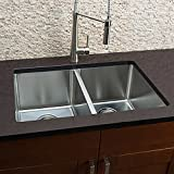 Hahn Chef Series Handmade Large Equal Double Bowl Kitchen Sink