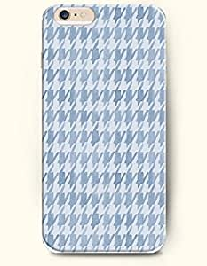 HOUNDSTOOTH- OOFIT Case for Apple iPhone 6 Plus (5.5inch) - Retro Grey White Classic Houndstooth by lolosakes by lolosakes