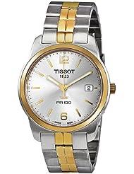 Tissot PR100 Silver Dial Two-tone Mens Watch T0494102203701